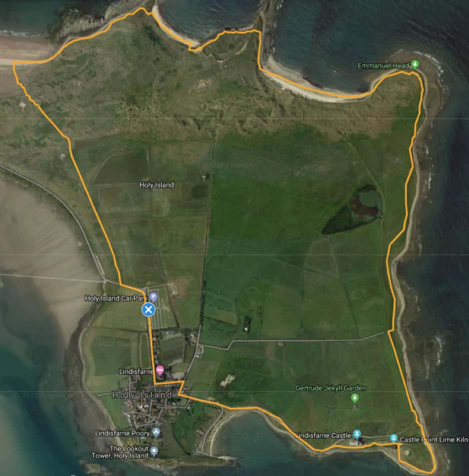 Holy Island Walk 3: North Shore, beaches and Lindisfarne Castle