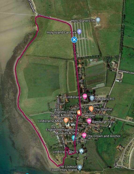 Holy Island Walk 2: Foreshore via Lindisfarne Priory
