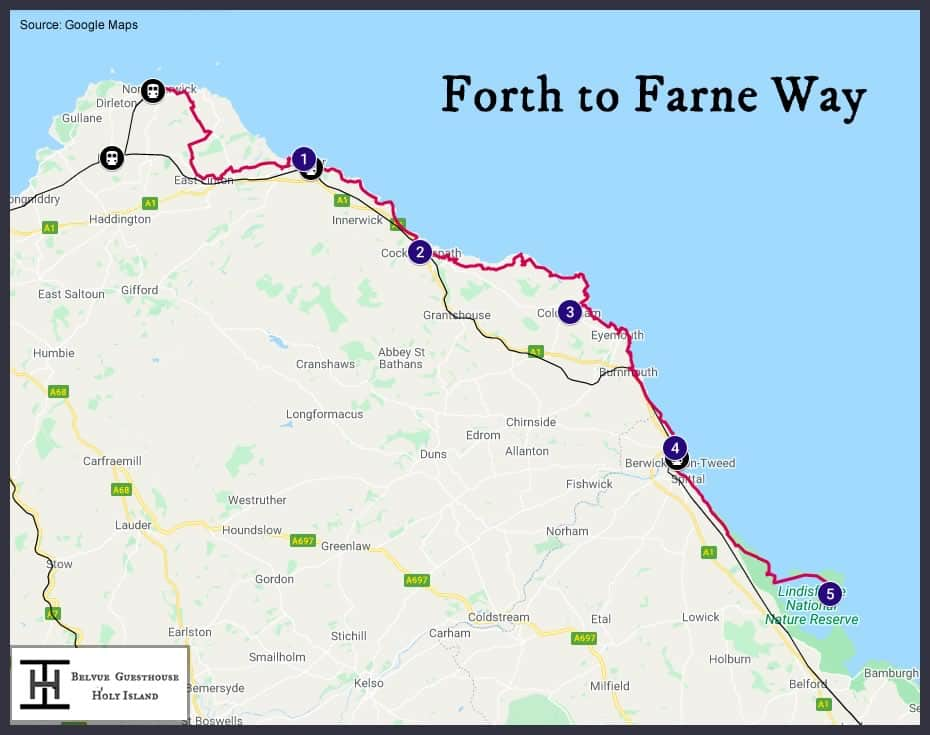 Forth to Farne Way Map