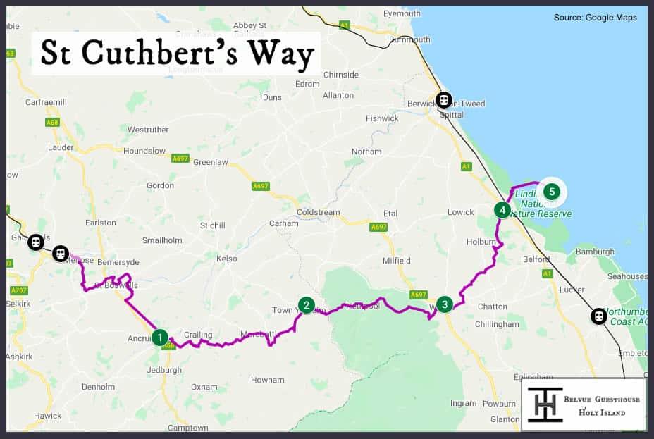 St Cuthbert's Way Map
