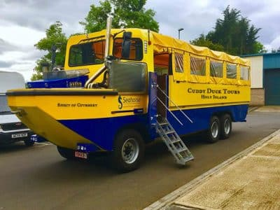 Cuddy Duck Tours vehicle